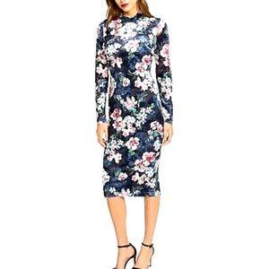 NWT Rachel Rachel Roy Floral-Print Sheath Dress, S